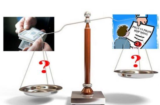 so sánh phạt vi phạm và bồi thường vi phạm hợp đồng thương mại